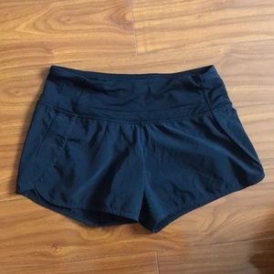 Lululemon Black Run Times Shorts
